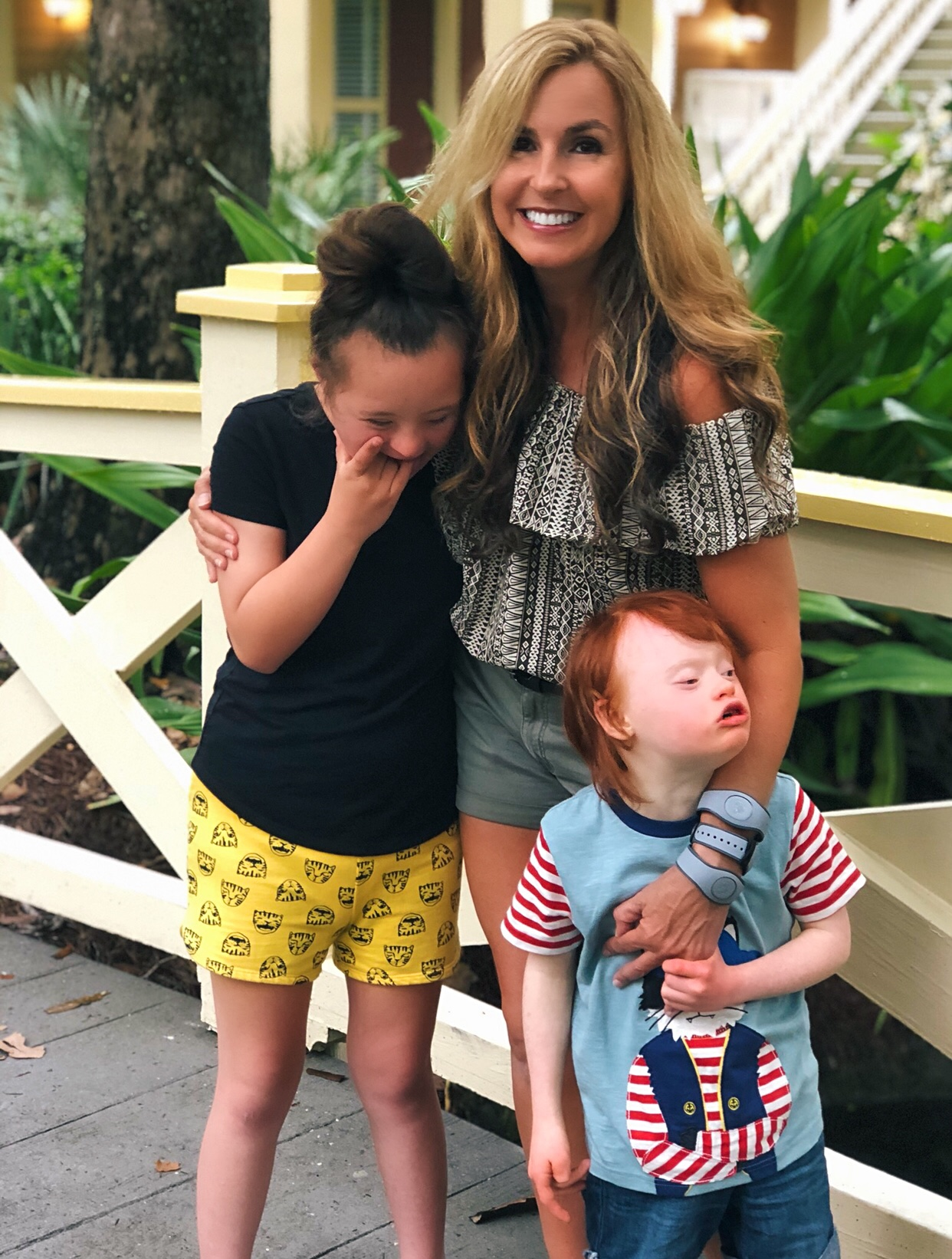 hope and charlie with momma!