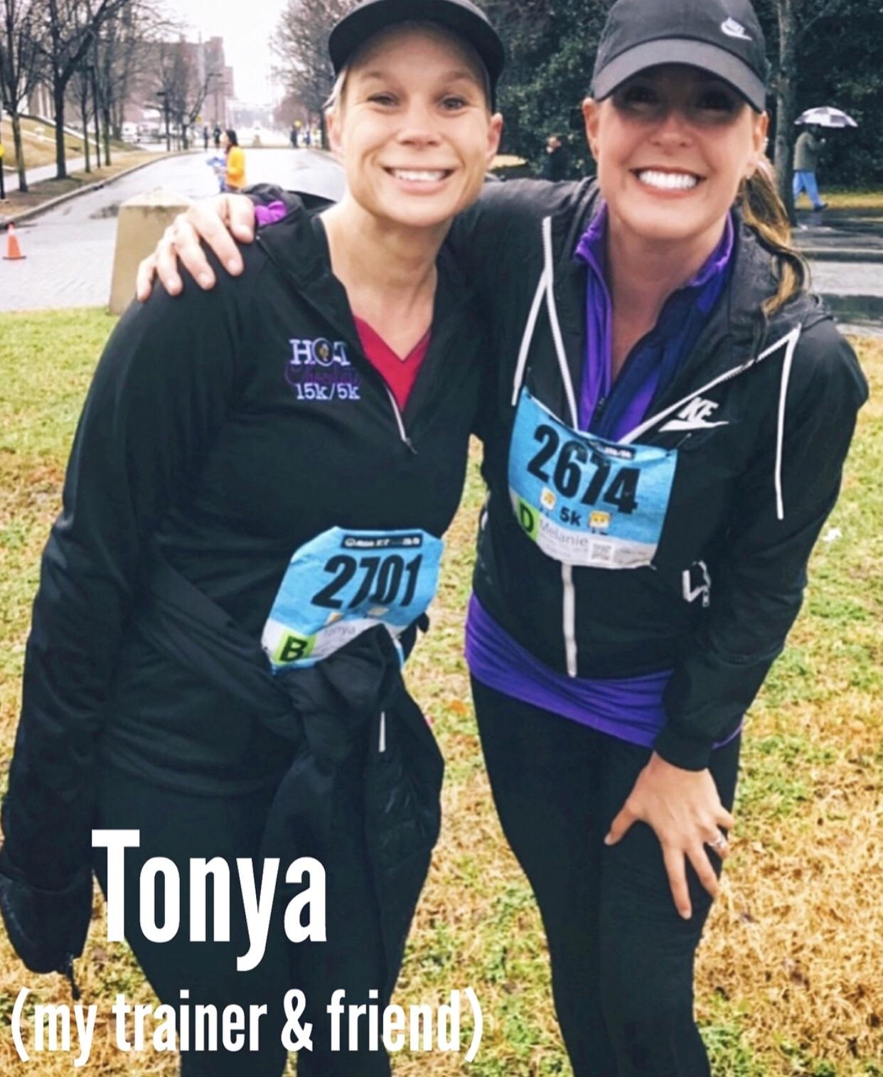 tonya and me --- hot chocolate race 2018